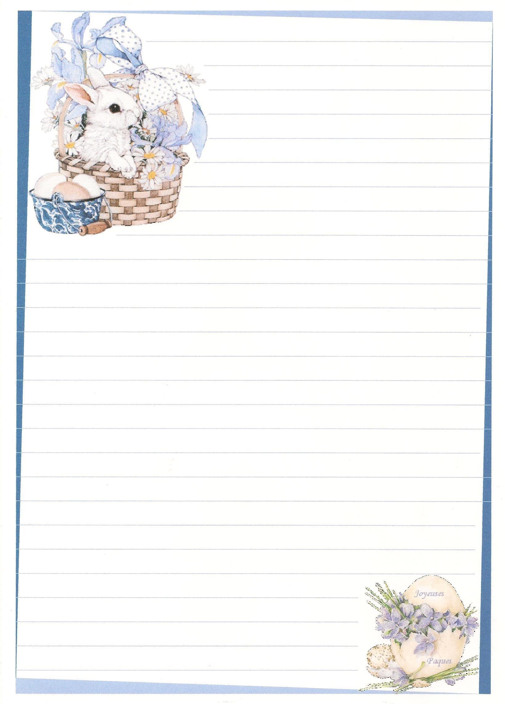 papier à lettre lapin